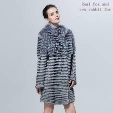 natural fur coat 2018 new real fur coat women real fur coat women jacket fur striped