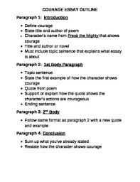 freak the mighty courage essay outline by kdema tpt freak the mighty courage essay outline