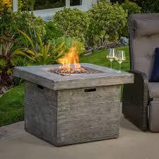 propane patio fire pit. Amazon.com : Vermont Outdoor 32-inch Square Liquid Propane Fire Pit With Lava Rocks Garden \u0026 Patio G
