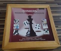 Wooden Games Compendium Imagin Thinkers Wooden Games Compendium 100 games Chess Draughts 41