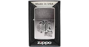 <b>Зажигалка Zippo 205 Tattoo Skull</b> Бензиновая купить в ...