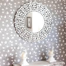 beyonce venetian round mirror