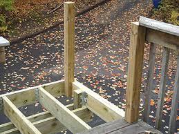 handrail post installed in deck framing hand rails for decks65