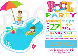 image of cute free printable pool party flyers