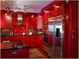 Black And Red Kitchen Red Kitchen Cabinets With Black Glaze Design Porter