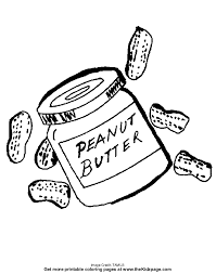 Peanut Butter Free Coloring Pages For Kids Printable Colouring