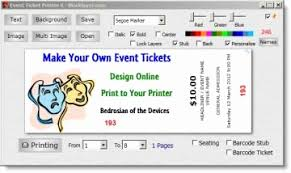 Event Tickets Template Fresh Make Your Own Event Tickets Free
