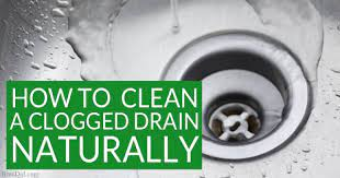 how to naturally clean a clogged drain