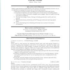 Waitress Resume Examples New Cocktail Waitress Resume Example Cafe Server Resume Servers Resume