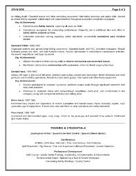 Oilfield Resume Objective Examples