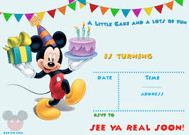 Free Mickey Mouse Template Download Free Printable Mickey Mouse Party Invitation Template