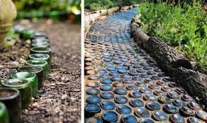 garden paths easy. #8 upcycle bottle garden pathway paths easy