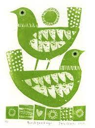 print & pattern by lidia | Bird graphic, Bird prints, Linocut prints
