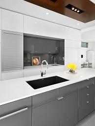 grey high gloss kitchen houzz