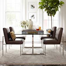 mercer dining table with glass top williams sonoma