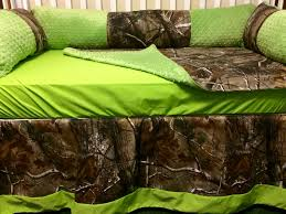 custom baby bedding 4 pc real tree camo baby bedding with lime green or customize with your color choice