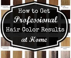 professional at home hair color