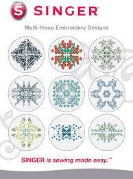 Futura Embroidery Designs Singer Multi Hoop Embroidery Designs Cd For Futura With 10