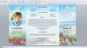 funeral pamphlet printable gatefold program templates youtube