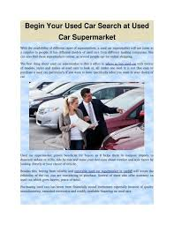 used car search at used car supermarket
