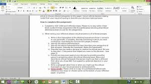 uf200 fall 2015 instructions for personal ethical decision making uf200 fall 2015 instructions for personal ethical decision making reflection paper