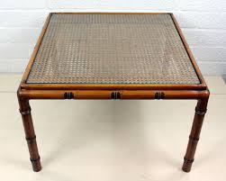 a vintage oak side table with caning and glass top the netherlands 20eeuw