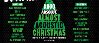 Almost Acoustic Christmas 2019 Lineup + Tickets | The World ...