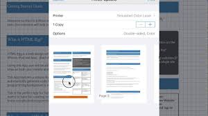 Html Print Preview Design How To Print Your Web Page Design Using Html Egg Pro For Ipad