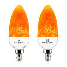hansang e12 led flame effect light bulb 3 watt flickering fire bulbs creative decorative candelabra bulbs emulation flame light for chandelier decoration