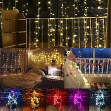 How To Plug In All Christmas Lights 2m 3m 288led Outdoor Christmas Xmas Wedding Party Fairy String Curtain Hanging Window Light Eu Plug