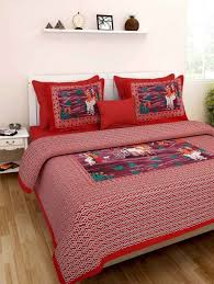 indian decorative bedding room bedcover king size 100 pure cotton double bedspread bed sheet bed cover with 2 pillow covers ssthpb28