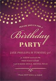 birthday party invitation email format