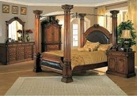 king poster bedroom sets. classic canopy poster king size 4 piece bedroom set sets