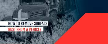 how to remove surface rust from a vehicle