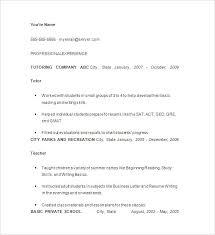 Math Tutor Resume Inspiration Tutoring On A Resumes Business Plan Template Uk Math Tutor Resume