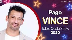 Vincitore di Tale e Quale Show 2020: vince Pago