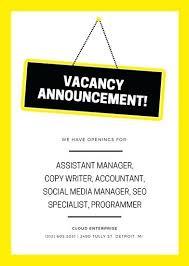 Job Posting Template Sales Job Posting Template Dark Grey And Orange Office Job Vacancy
