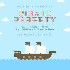 Invitation For Party Template New Customize 4848 Pirate Party Invitation Templates Online Canva