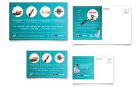 Pest Control Services Postcard Template Design