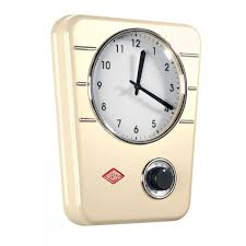 Red Retro Kitchen Accessories Wesco Classic Line Kitchen Clock Red Retro Clock With Timer
