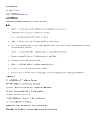 Image Gallery of Shining Ideas Video Production Resume 16 Heather Brown Video  Production Resume
