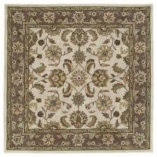 tara bermuda linen 10 ft x 10 ft square area rug