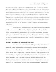 advanced internship final report when i was 30 advanced internship research paper