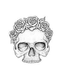 Small Picture skull flower sketch Google Search Halloween Pinterest