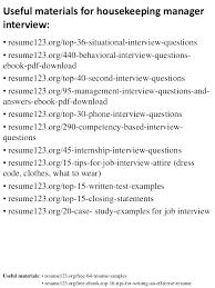 Housekeeping Resume Samples Housekeeper Sample Resume Good ...