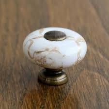 Senarai Harga Antique Brass Marble Porcelain Drawer Knobs Kitchen