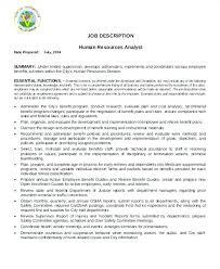 Human Resources Compensation Analyst Job Description. Human ...