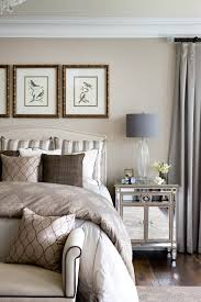 bedroom with mirrored furniture. Mirrored-nightstand-Bedroom-Traditional-with-bedroom-bench-crown-molding- Mirrored-furniture-nailhead Bedroom With Mirrored Furniture O