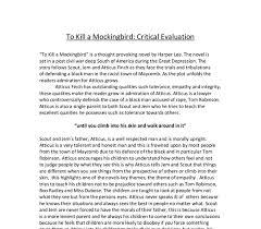 Essay On Tolerance To Kill A Mockingbird Essay Tolerance Custom Paper Help
