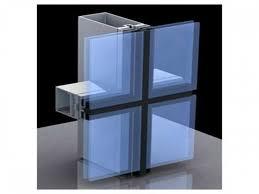 aluminium glass shadow box curtain wall